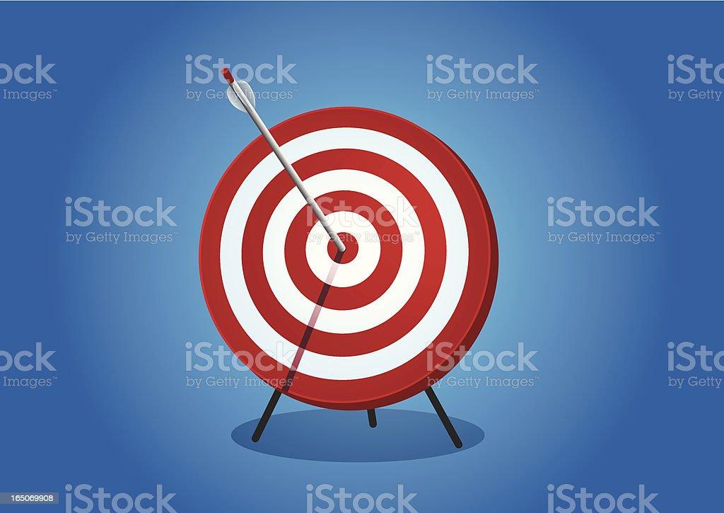 Arrow on the target royalty-free stock vector art