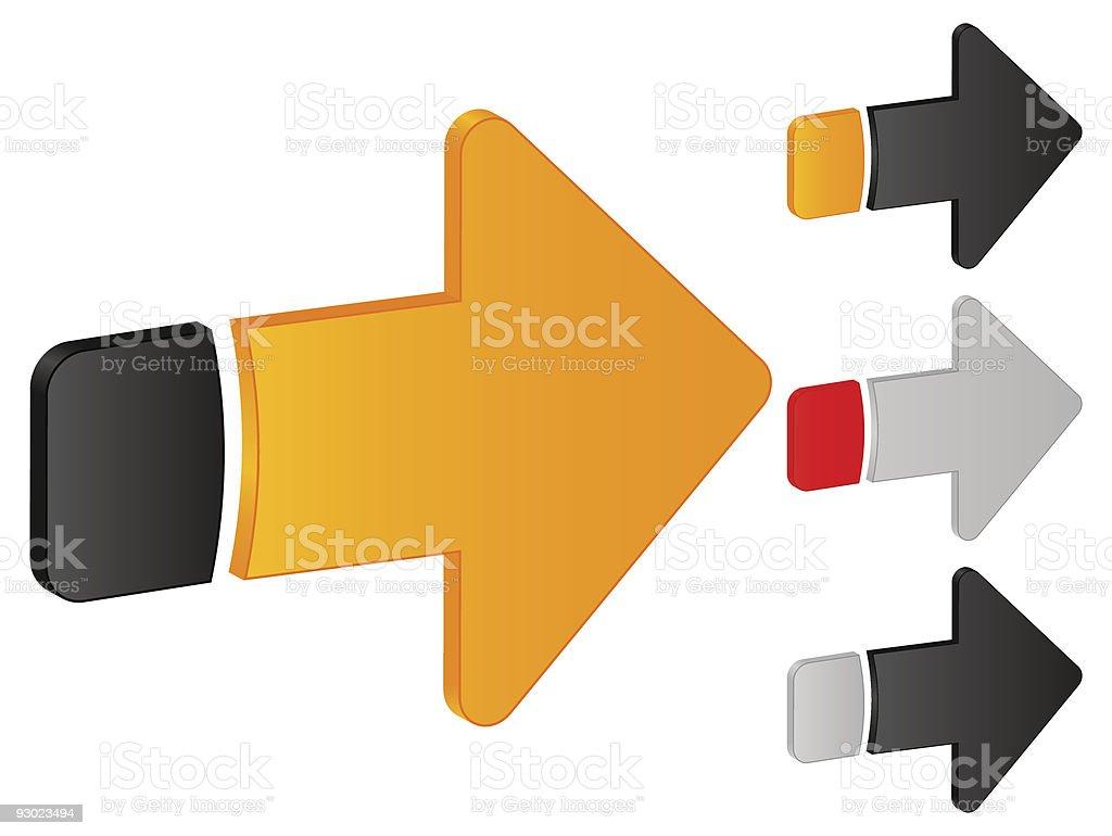 arrow right icon royalty-free stock vector art