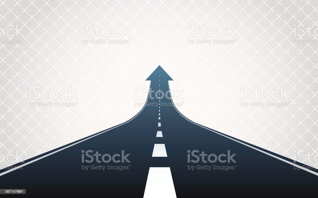 Arrow road vector art illustration