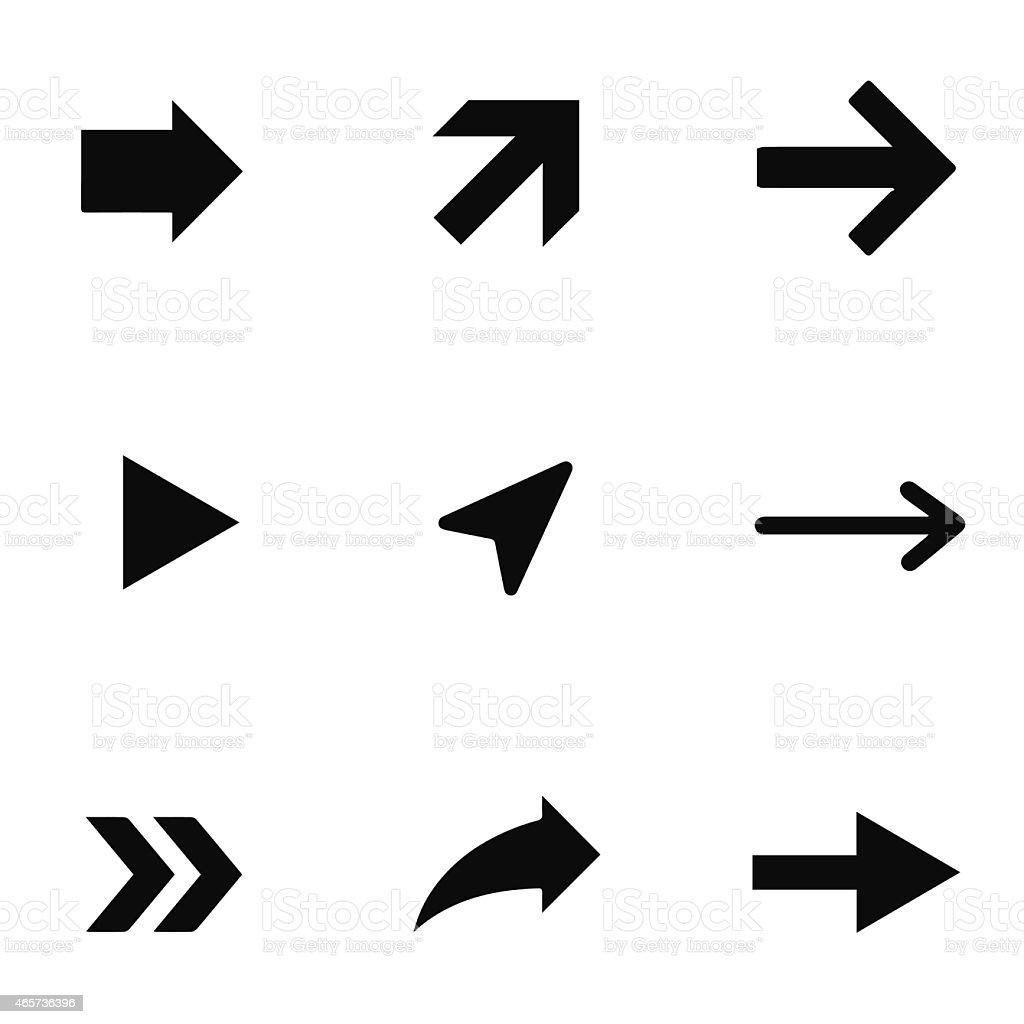 Arrow set vector illustration vector art illustration