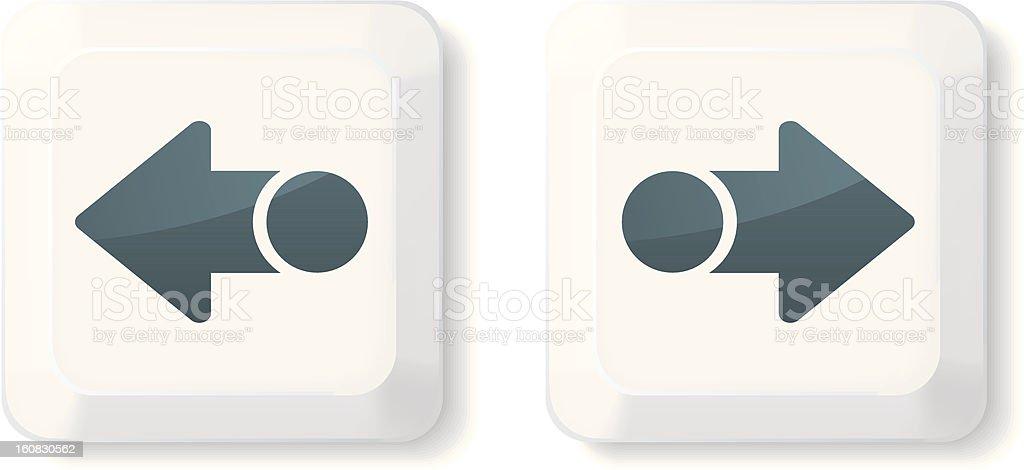 Arrow Sign Keys royalty-free stock vector art