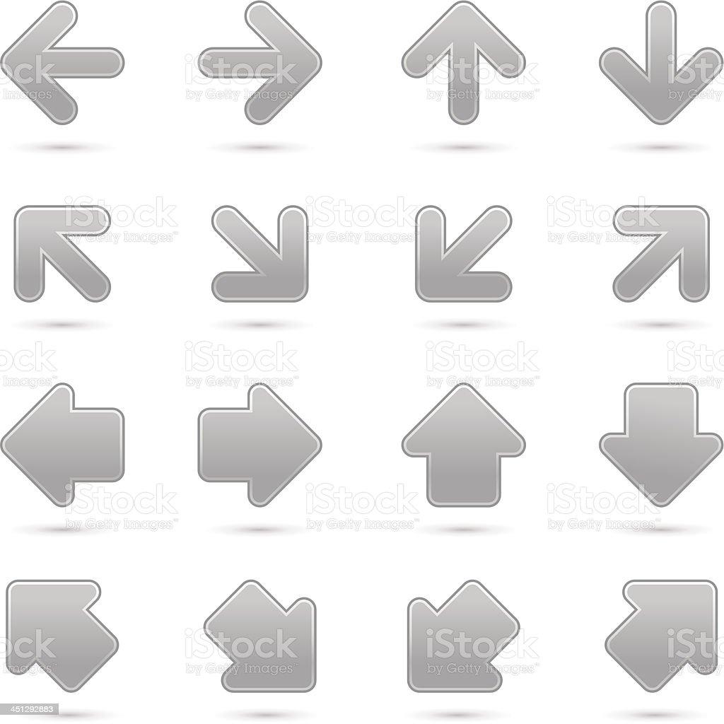 Arrow sign navigation button pointer cursor grayscale color direction icon royalty-free stock vector art