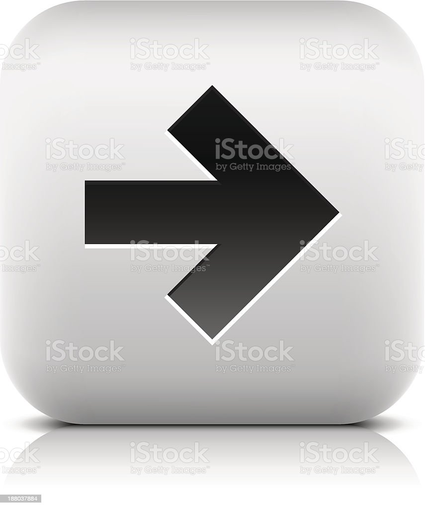 Arrow sign rounded square icon internet button black pictogram royalty-free stock vector art