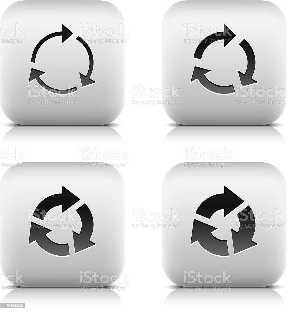 Arrow sign web icon reload reset loop rotation spin refresh royalty-free stock vector art