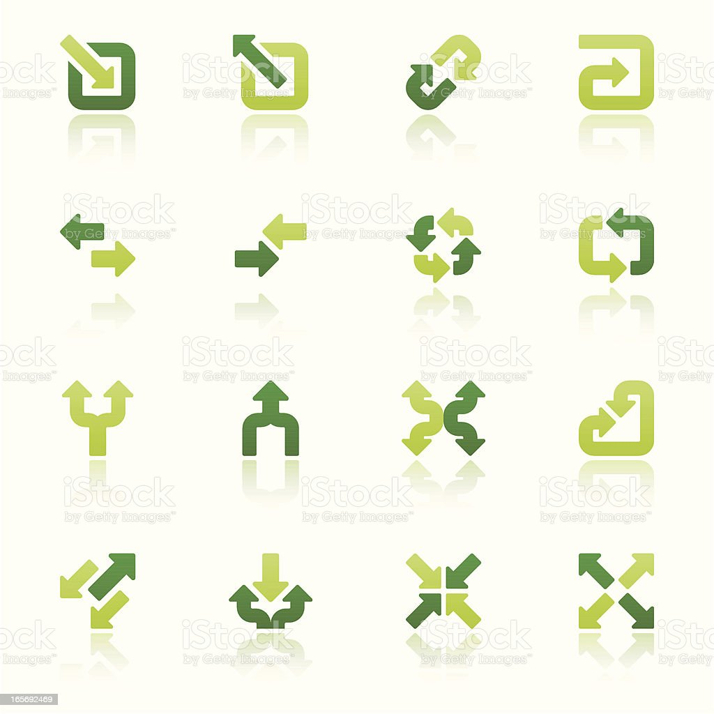 arrow signs icon set II fresh reflection vector art illustration