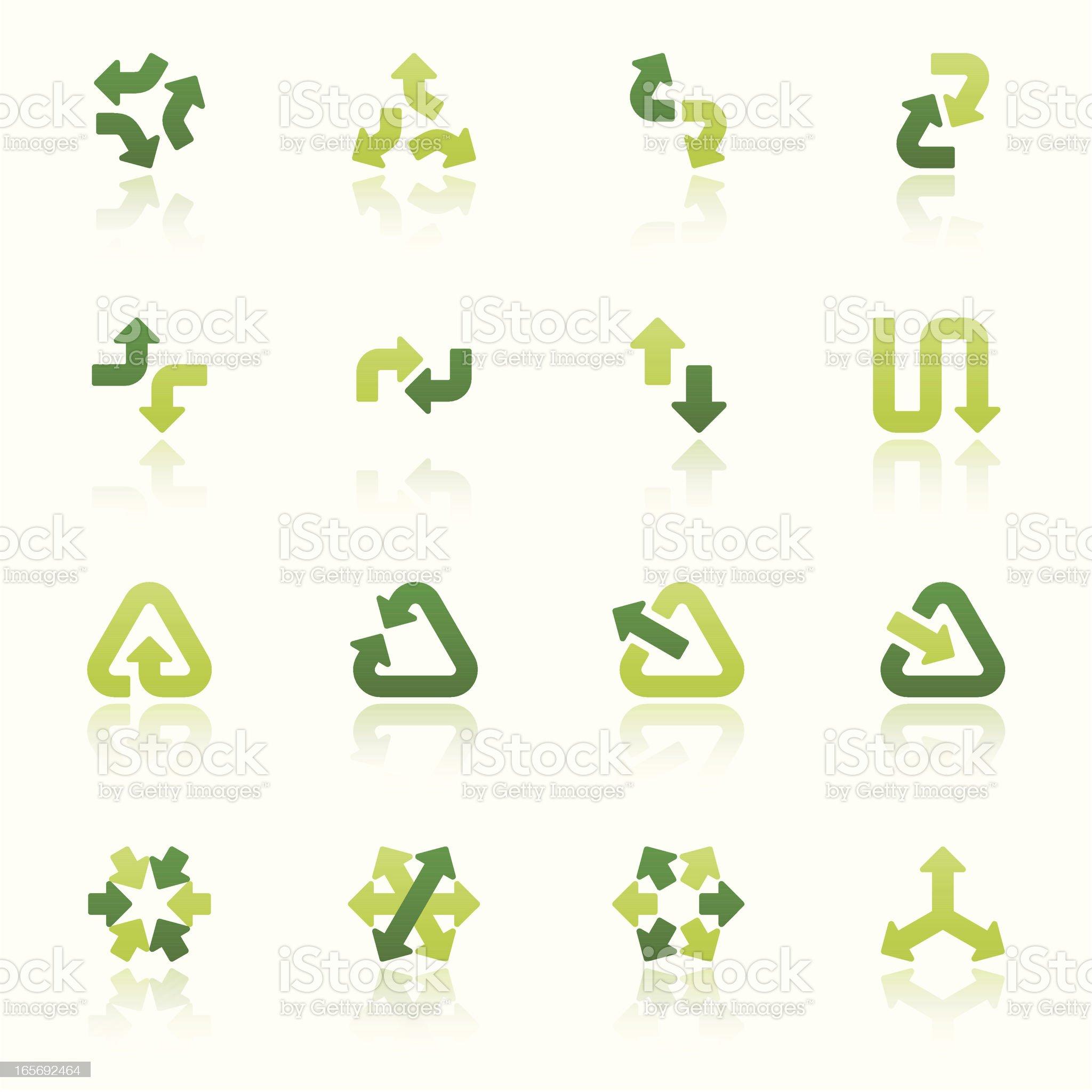 arrow signs icon set III fresh reflection royalty-free stock vector art
