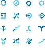 arrow signs set blue I