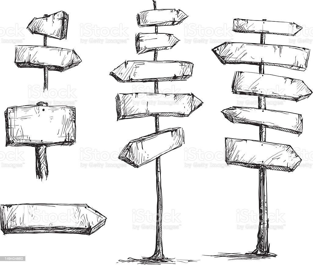 Arrow signs vector drawing vector art illustration
