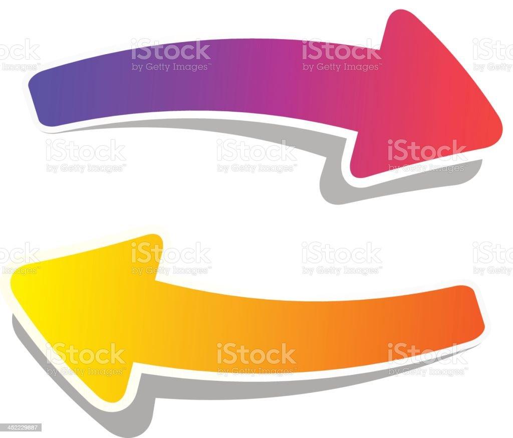 Arrow Stickers royalty-free stock vector art