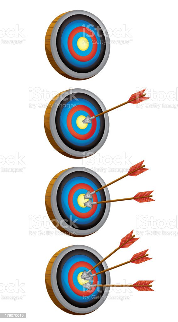 arrow target game royalty-free stock vector art