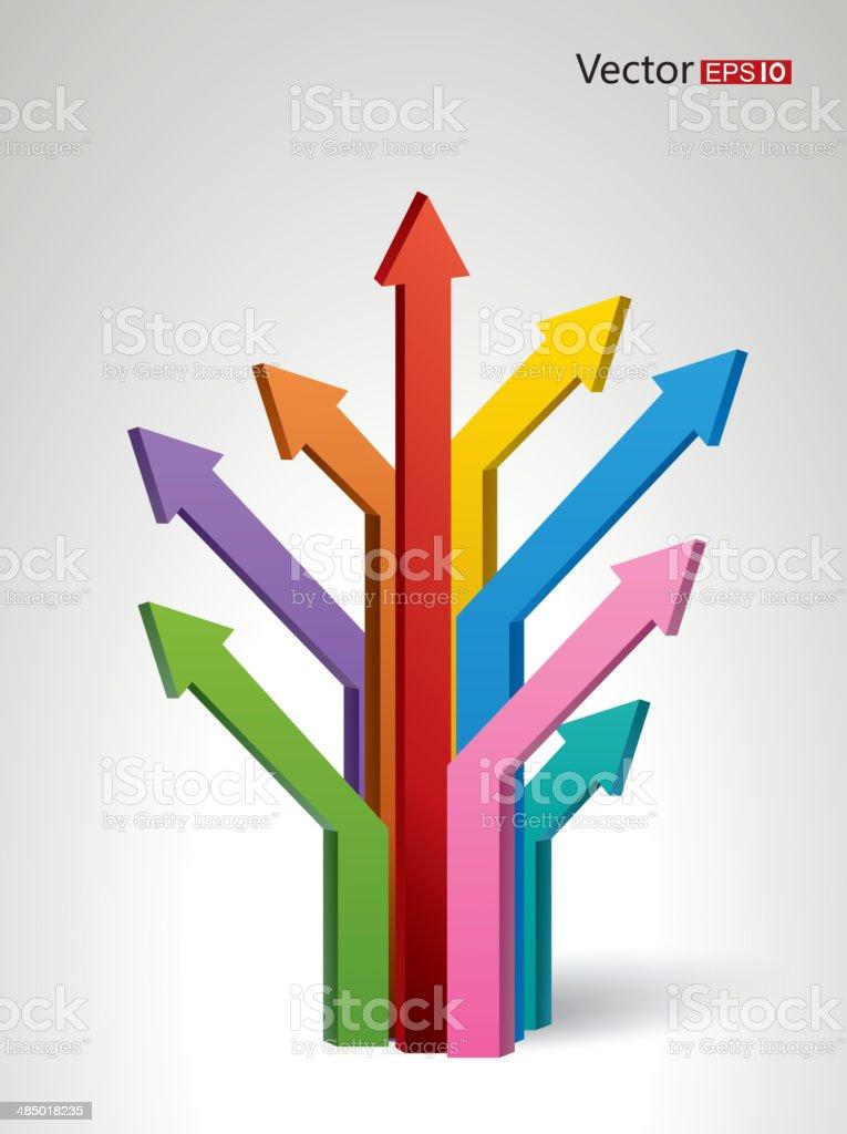 Arrow tree royalty-free stock vector art