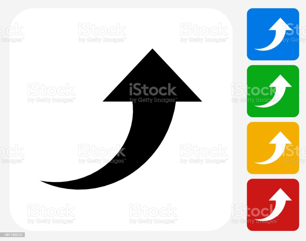Arrow Up Icon Flat Graphic Design vector art illustration