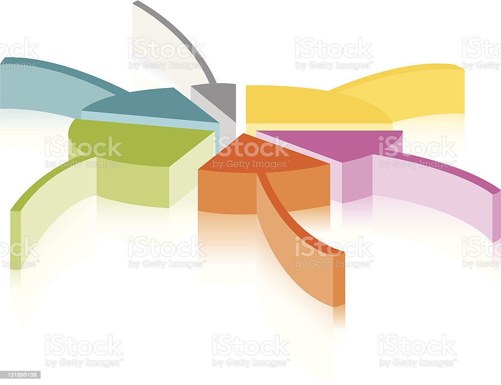 Arrowed Pie chart royalty-free stock vector art