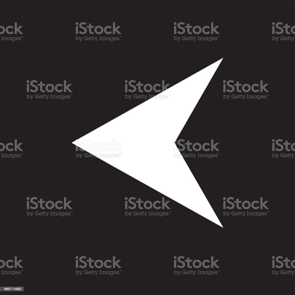 Arrowhead Left vector icon. Image style is a flat icon symbol on a rounded square button. vector art illustration