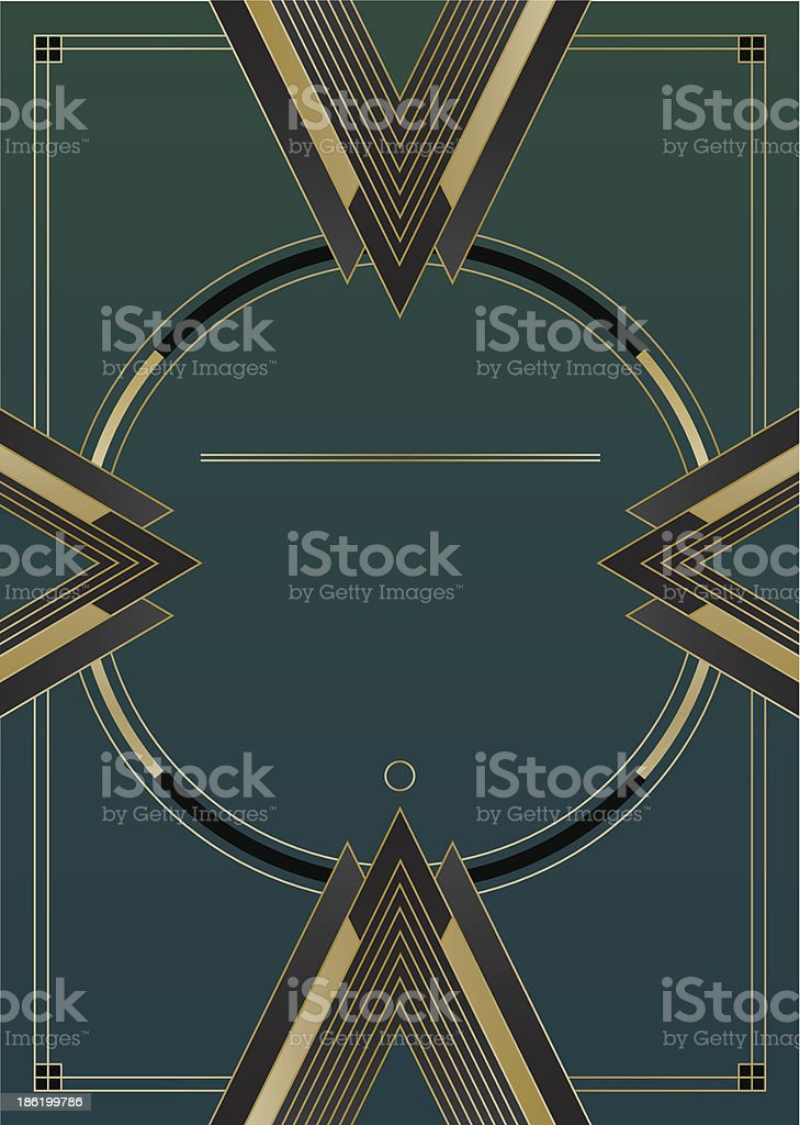 Arrows Art Deco Background vector art illustration