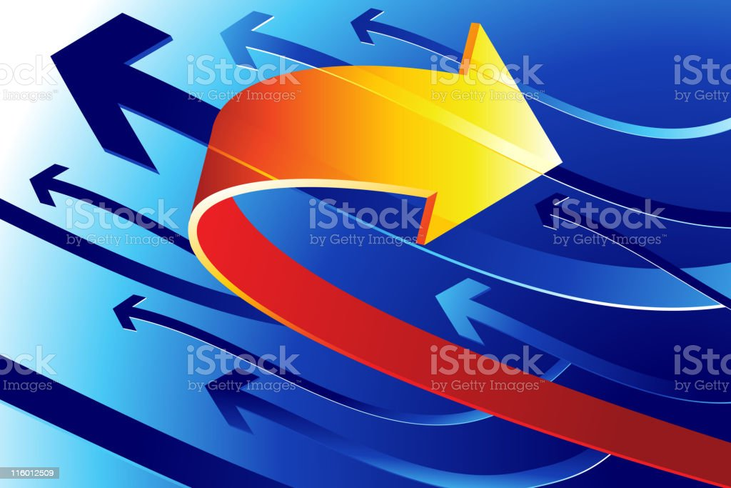 Arrows Background royalty-free stock vector art