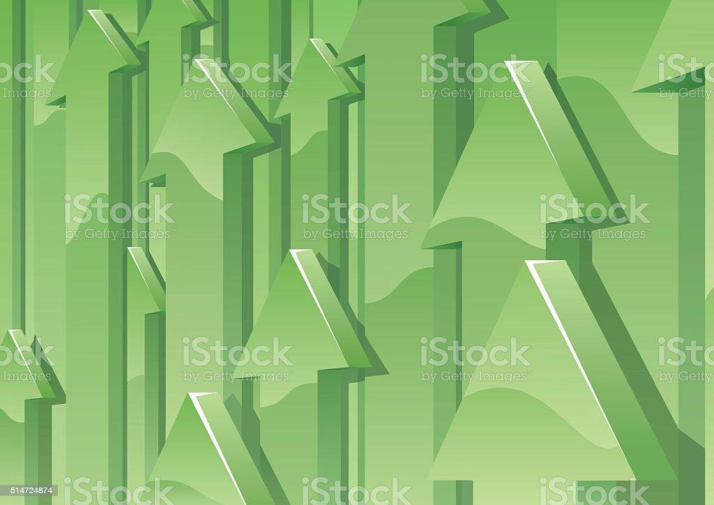 Arrows Background vector art illustration