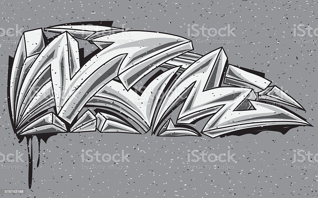 Arrows black and white graffiti vector art illustration