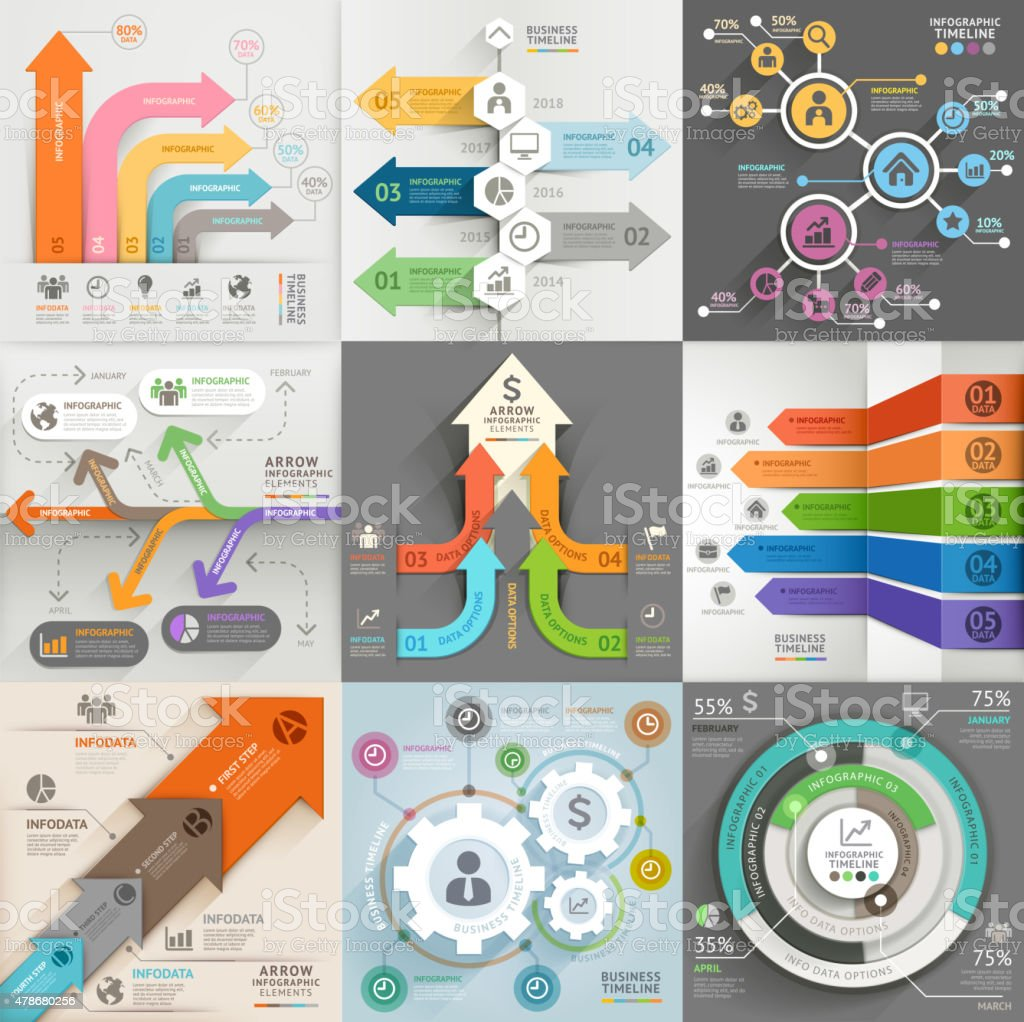 Arrows business marketing infographic template. vector art illustration