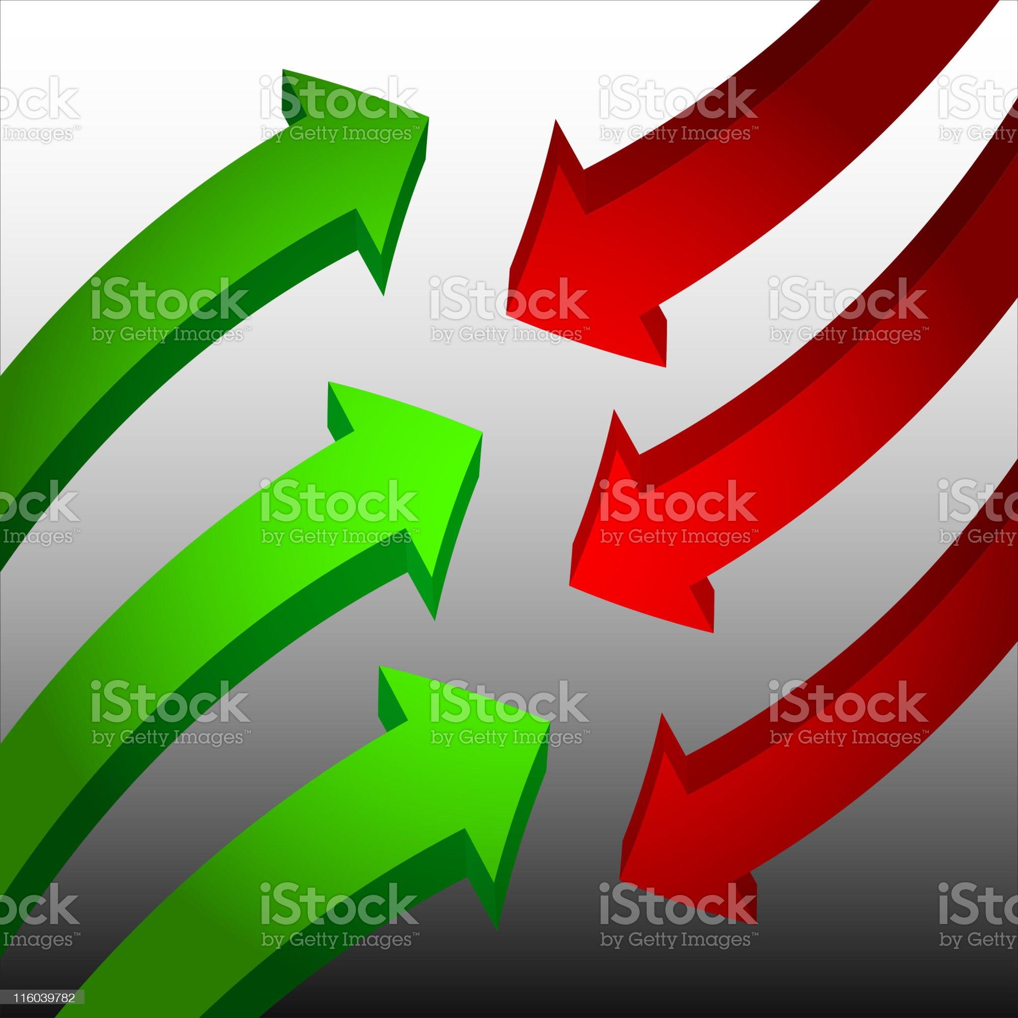 arrows collide royalty free vector royalty-free stock vector art