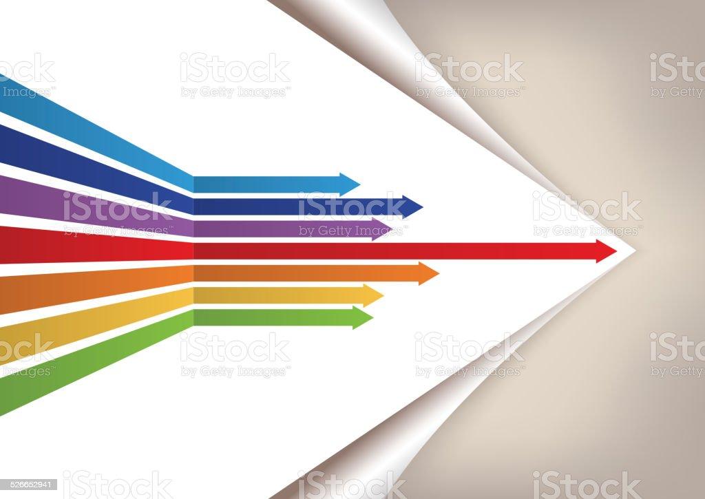 Arrows forwad vector art illustration