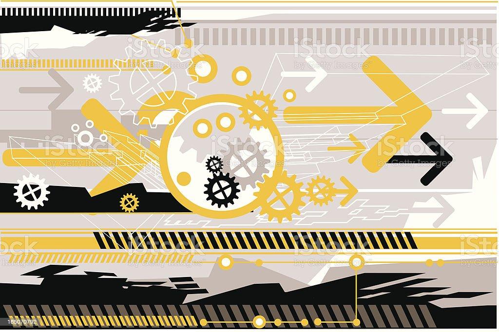 Arrows & Gears royalty-free stock vector art