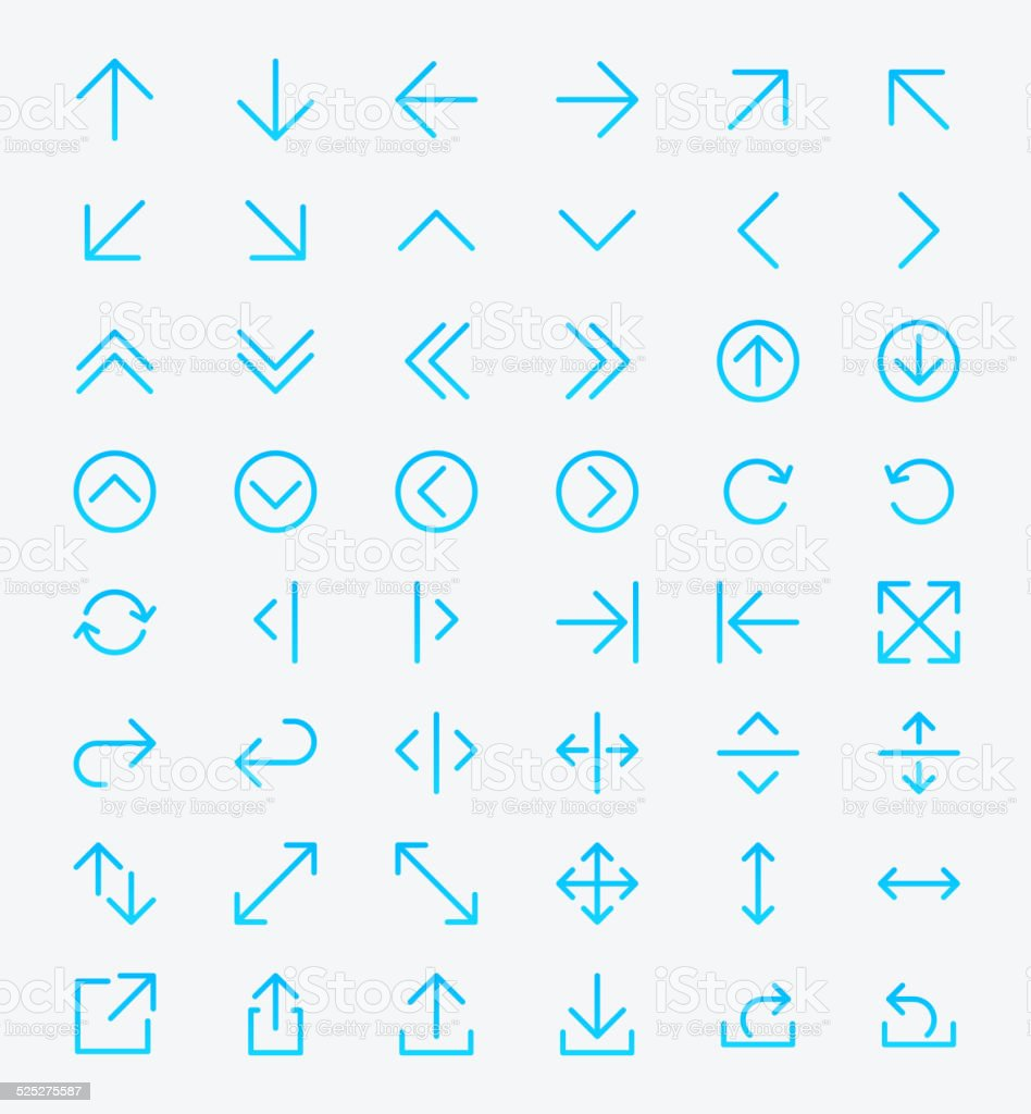 Arrows Icon set vector art illustration
