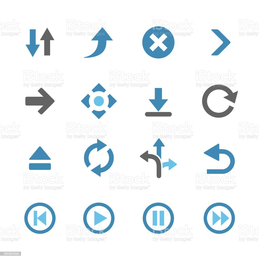 Arrows Icons - Conc Series vector art illustration