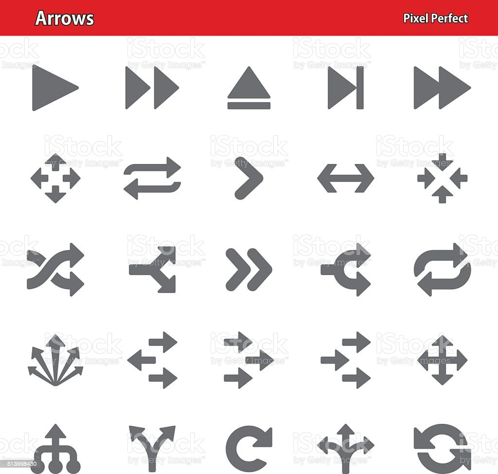 Arrows Icons - Set 2 vector art illustration