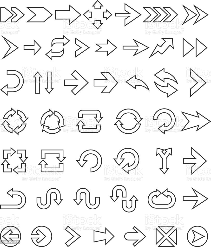 Arrows icons vector art illustration