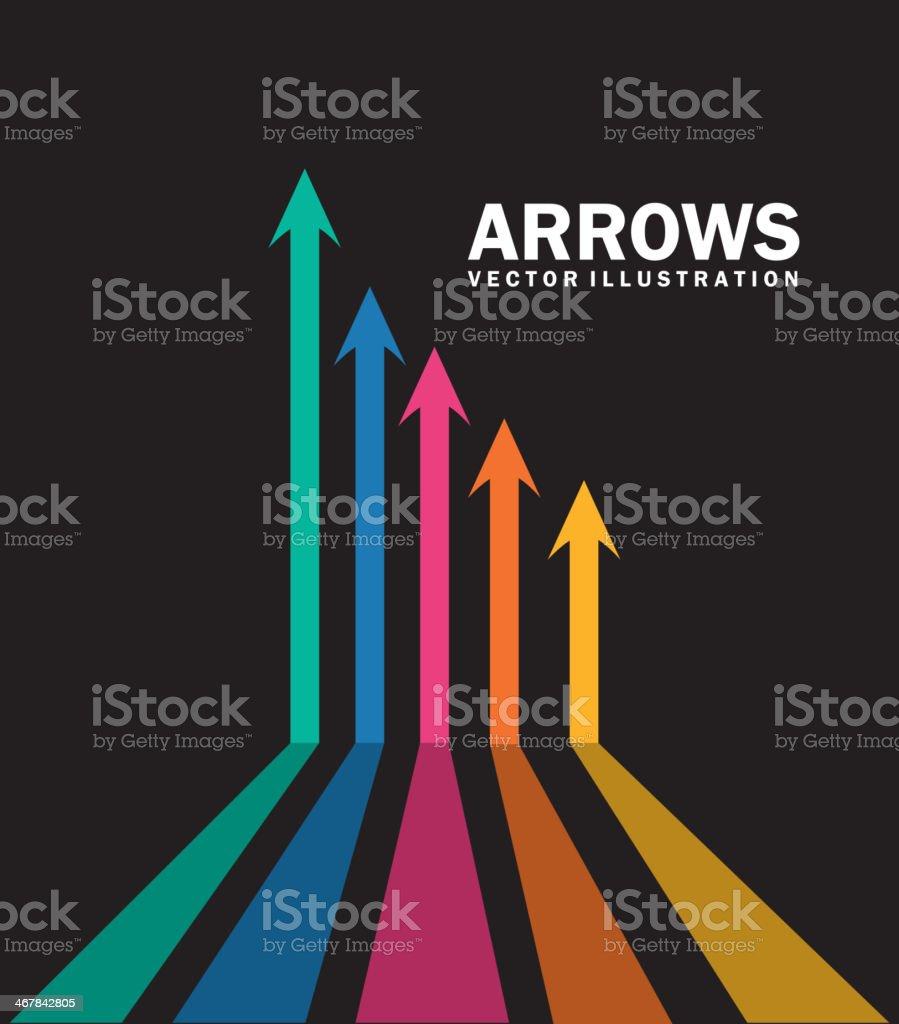 Arrows Infographics vector art illustration