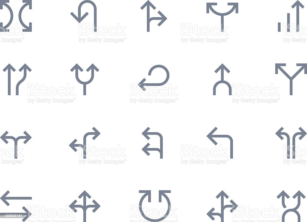 Arrows. Line series vector art illustration
