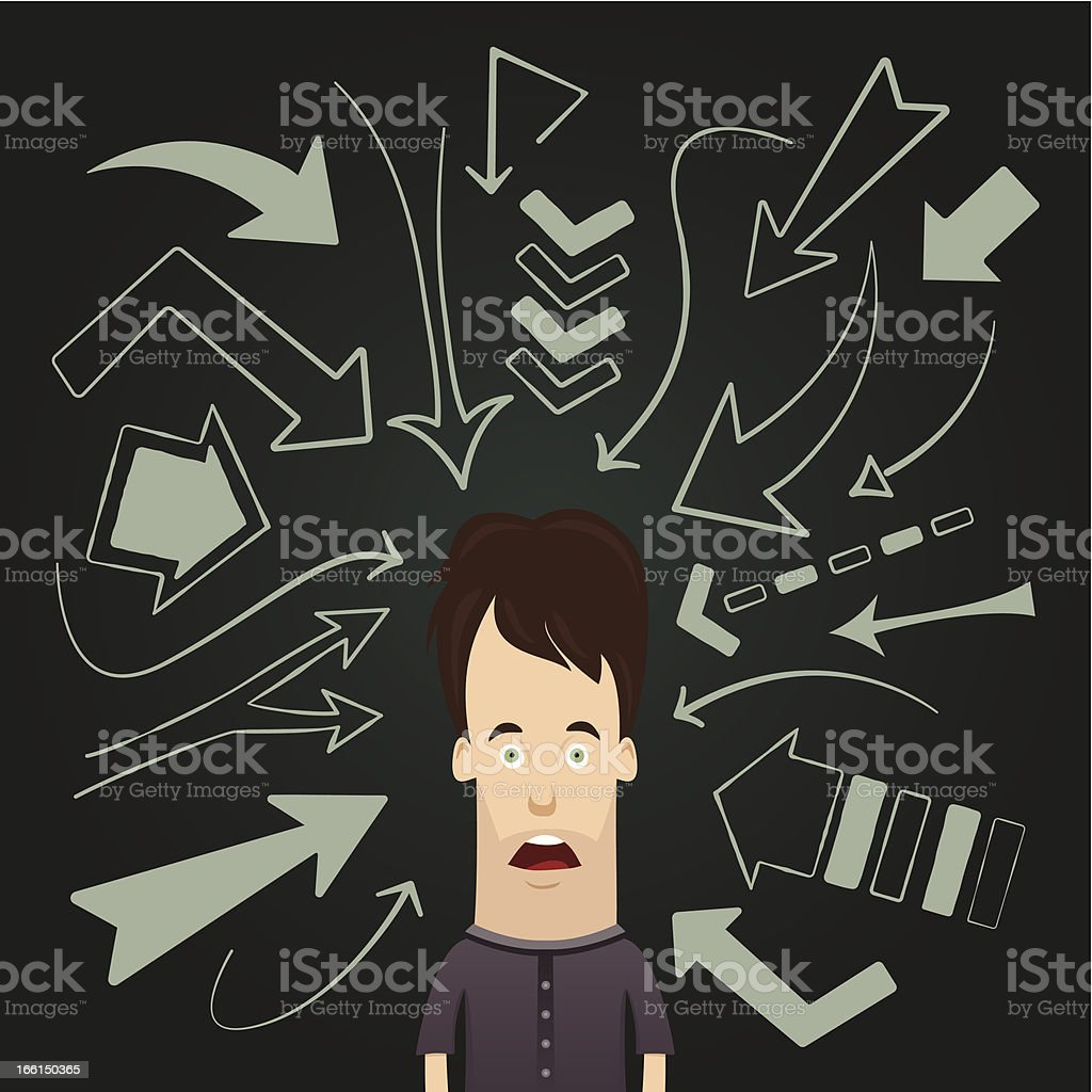 Arrows Pointing royalty-free stock vector art