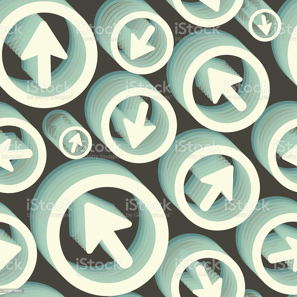 Arrows. Seamless pattern. 3d vector illustration. vector art illustration