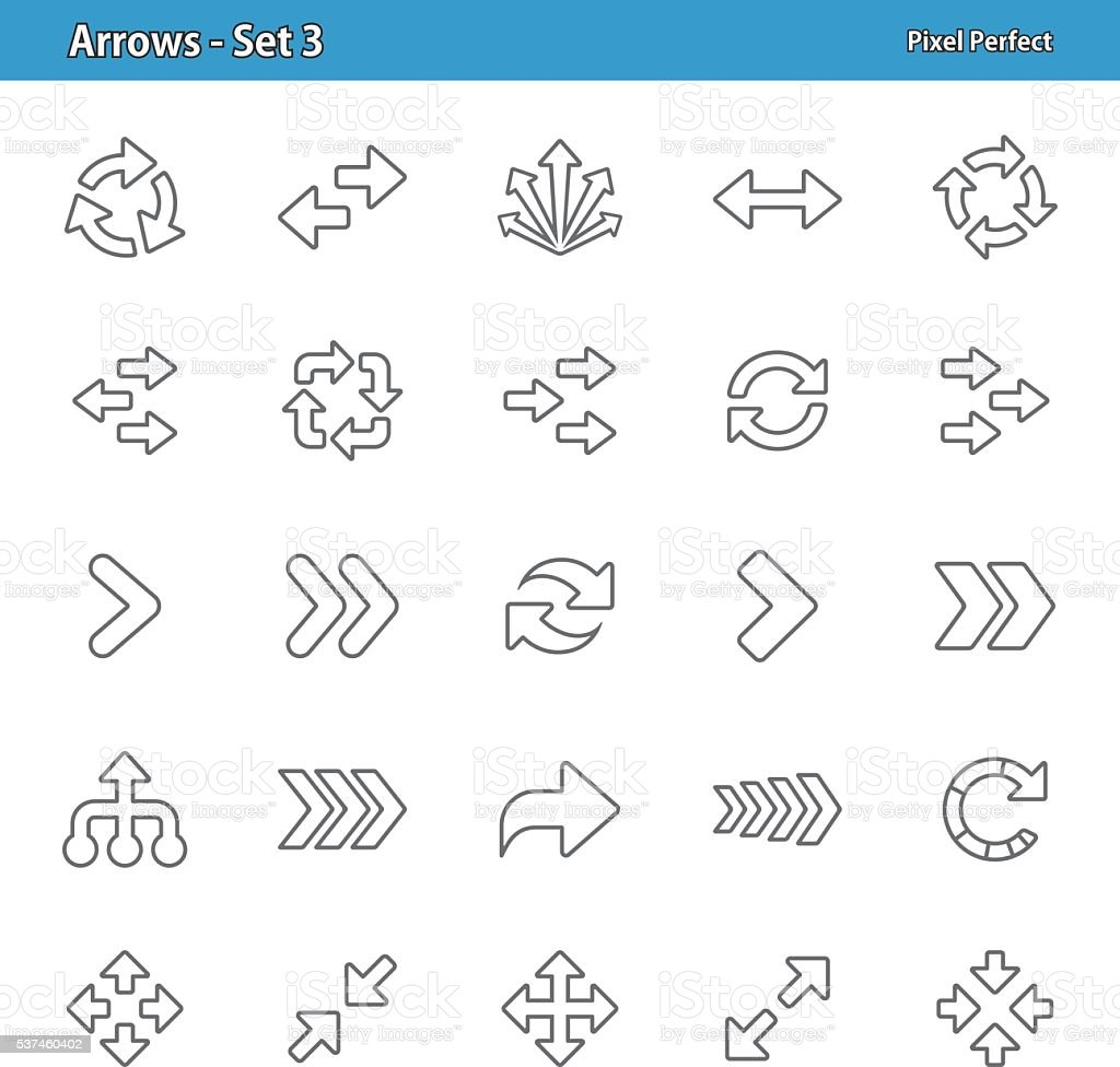 Arrows - Set 3 vector art illustration