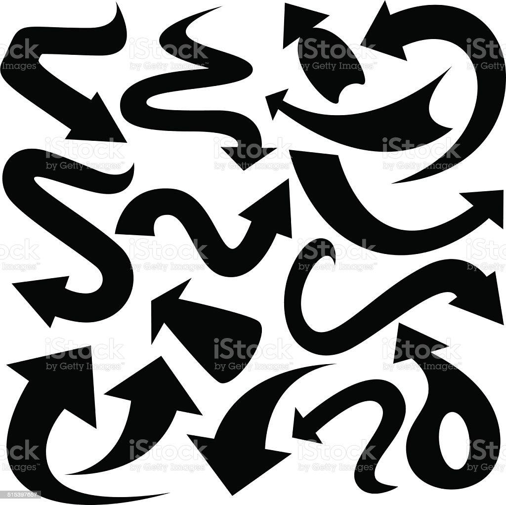 Arrows Silhouette vector art illustration