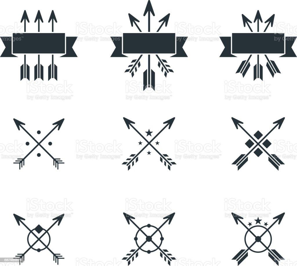 arrows symbols vector art illustration