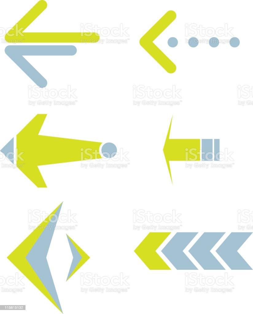 arrows (vector) royalty-free stock vector art