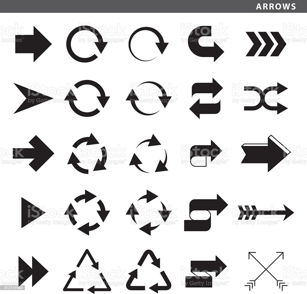 Arrows royalty-free stock vector art