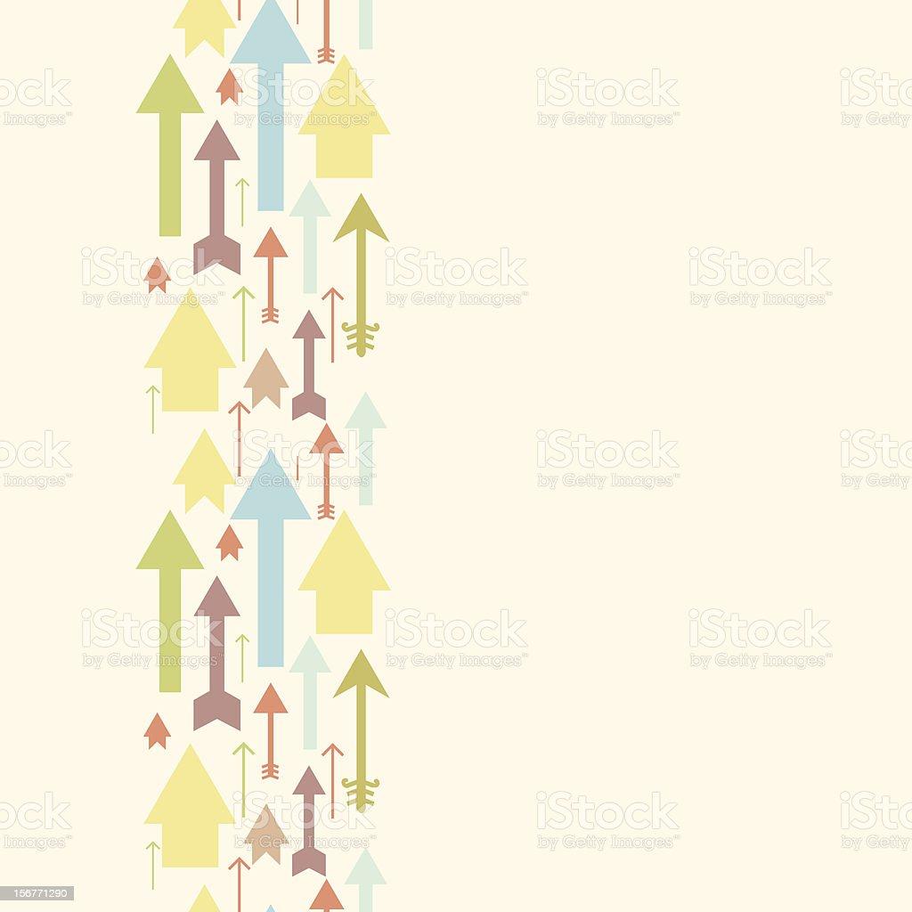 Arrows vertical seamless pattern royalty-free stock vector art