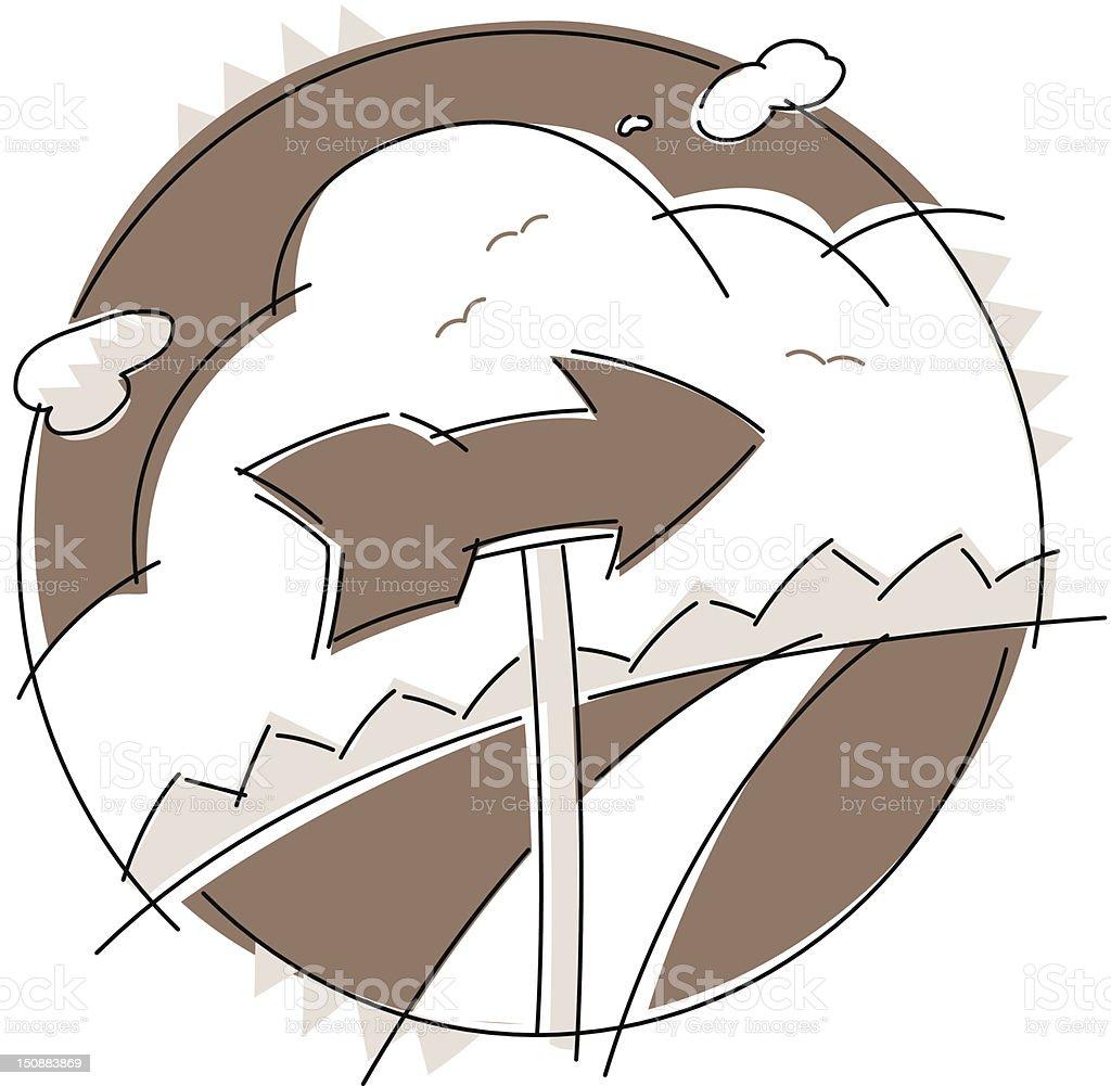 Arrrow Direction vector art illustration