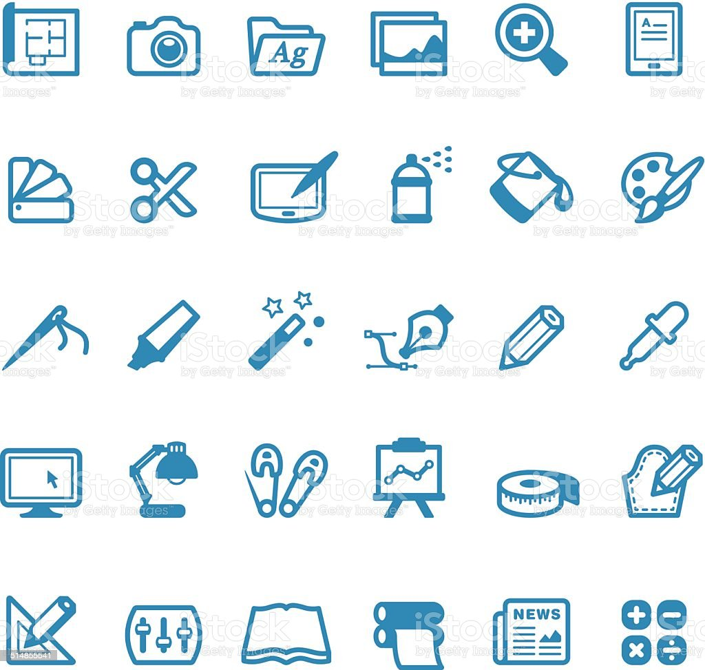 Art And Craft icons / Linico series vector art illustration
