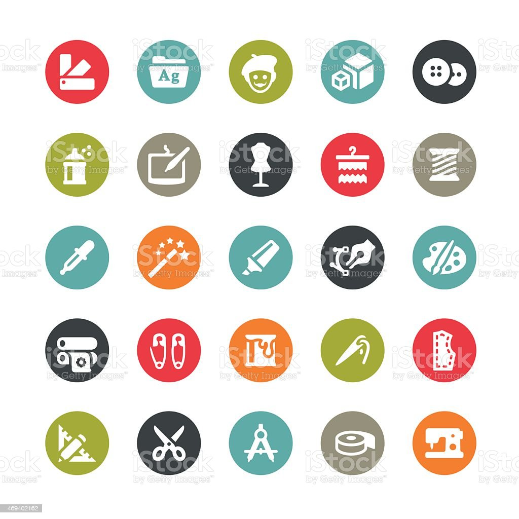 Art and Craft vector icons / Ringico series vector art illustration