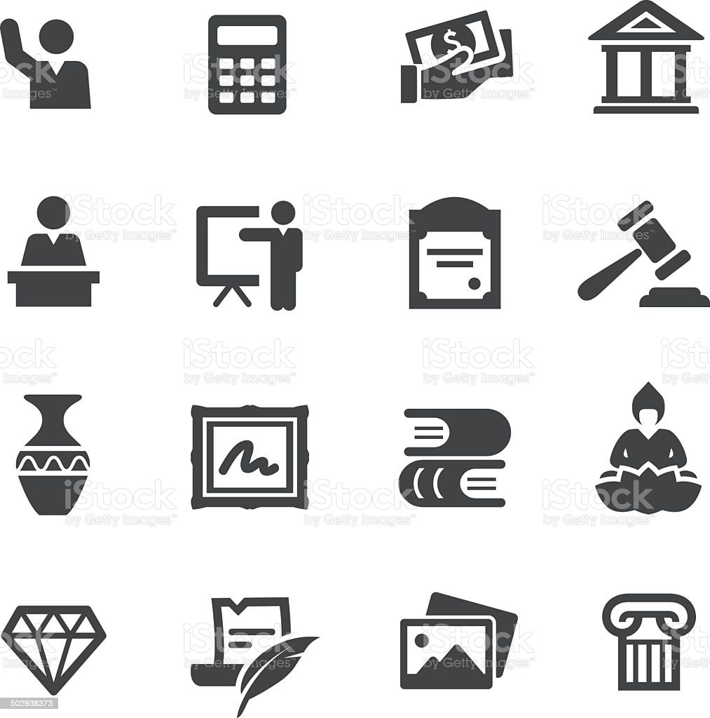 Art Auction Icons - Acme Series vector art illustration