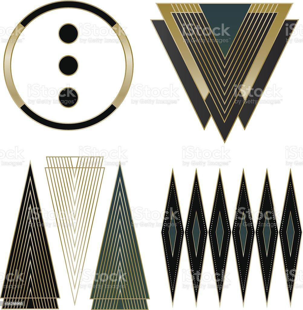 Art Deco and Design Elements vector art illustration