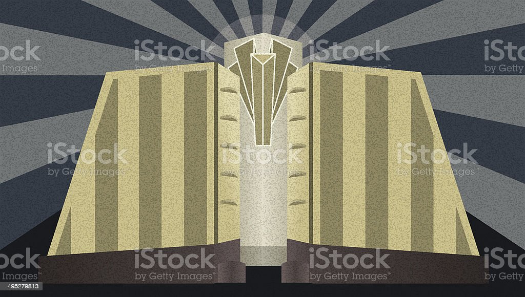 Art Deco Architectural Poster royalty-free stock vector art