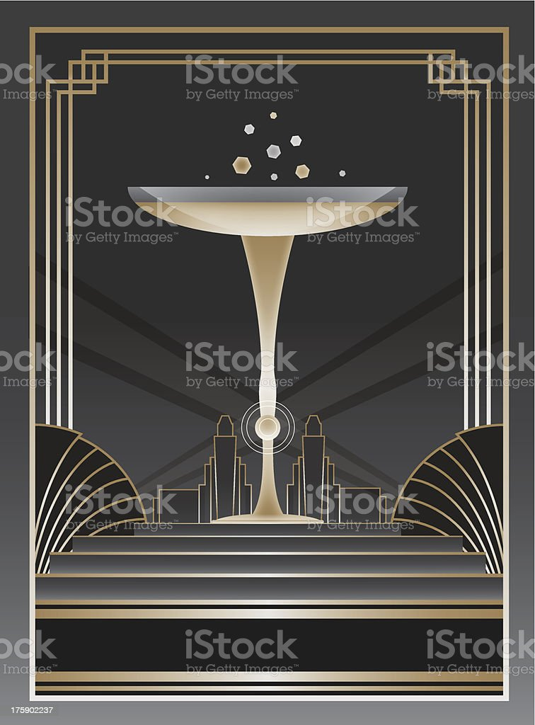 Art Deco Background and Frame royalty-free stock vector art