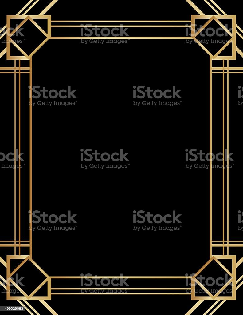 Art Deco Background vector art illustration