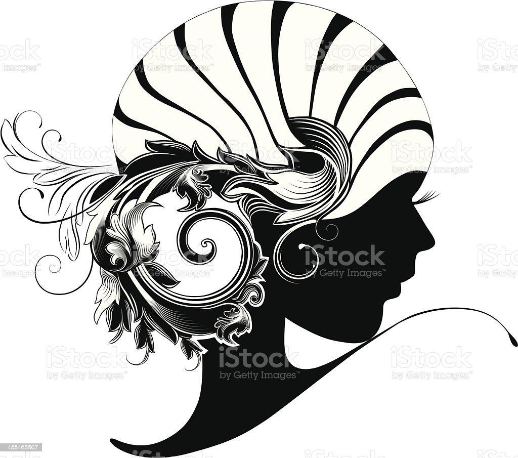 Art Deco beauty. vector art illustration