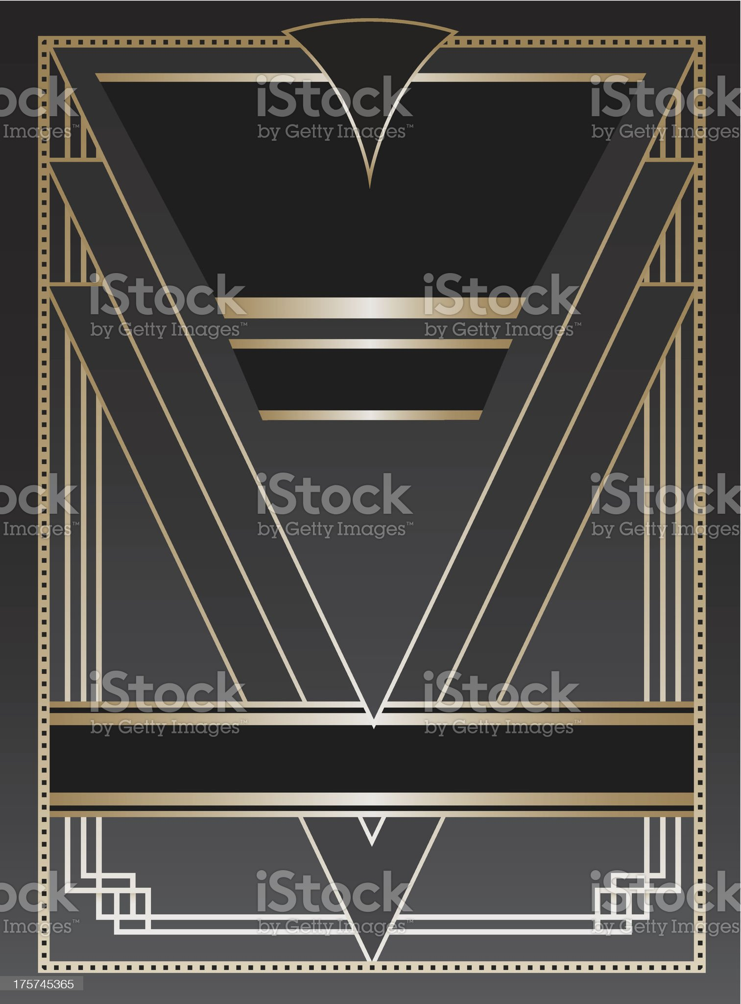 Art Deco blank invitation card royalty-free stock vector art